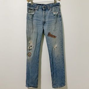Vintage Levi's 512 Custom Distressed Jeans Size 34